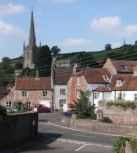 A view of Croscombe in Somerset