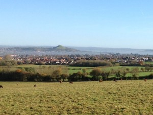 A view of Glastonbury Tor in Somerset